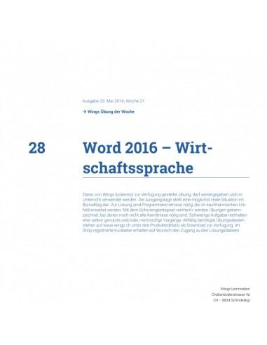UdW 1728 Word Wirtschaftssprache