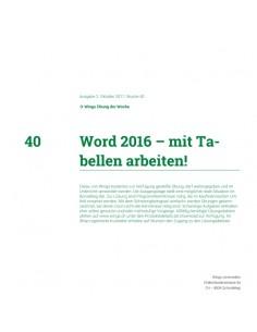 UdW 1740 Word Tabellen
