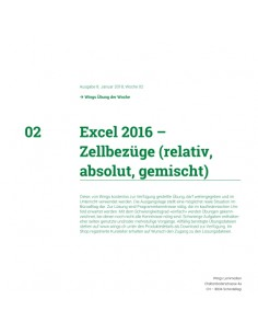 UdW 1802 Excel Zellbezüge