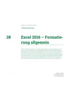 UdW 1828 Excel Formatierungen