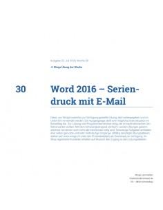 UdW 1830 Word Seriendruck...