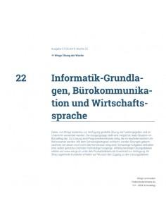 UdW 1922 Informatik Grundlagen