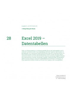 UdW 1928 Excel Datentabellen