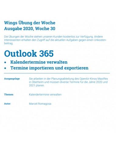 UdW 2030 Outlook Termine verwalten