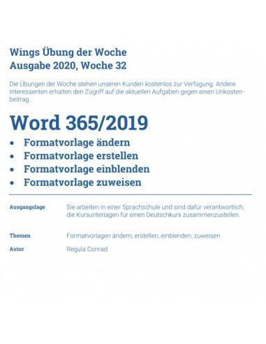 UdW 2032 Word Formatvorlagen