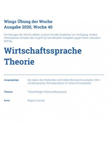 UdW 2040 Wirtschaftssprache Theorie