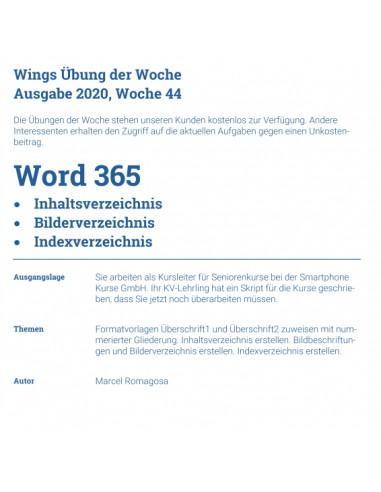 UdW 2044 Word Verzeichnisse