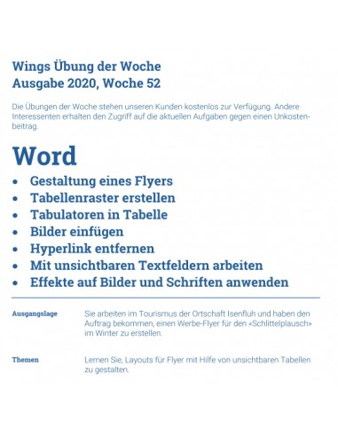 UdW 2052 Word Flyer gestalten
