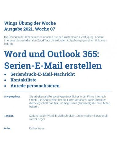 UdW 2107 Serien E-Mail erstellen