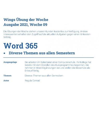 UdW 2109 Word Tabellen, Formulare,...